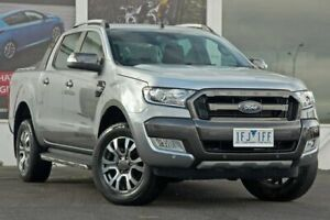 2015 Ford Ranger PX MkII Wildtrak Double Cab Silver 6 Speed Sports Automatic Utility Ferntree Gully Knox Area Preview