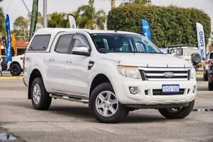 2011 Ford Ranger PX XLT Double Cab White 6 Speed Sports Automatic Utility Maddington Gosnells Area Preview