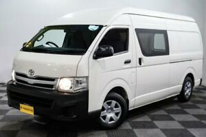 2012 Toyota HiAce TRH221R MY12 High Roof Super LWB White 4 Speed Automatic Van