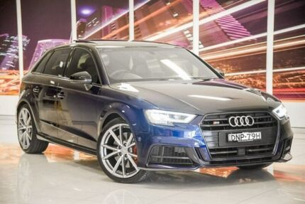 2017 Audi S3 8V MY18 Sportback S tronic quattro Blue 7 Speed Sports Automatic Dual Clutch Hatchback Blacktown Blacktown Area Preview