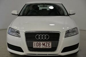 2010 Audi A3 8P MY10 Attraction Sportback S tronic Ibis White 7 Speed Sports Automatic Dual Clutch Mansfield Brisbane South East Preview