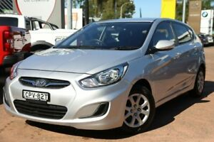 2013 Hyundai Accent RB Active Silver 4 Speed Automatic Hatchback