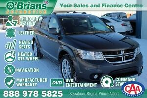 2016 Dodge Journey R/T - Mfg Warranty, DVD, 7 Pass, Leather