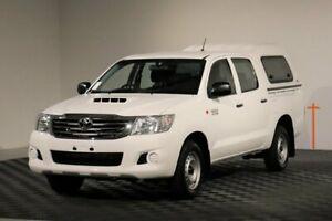 2015 Toyota Hilux KUN16R MY14 SR Double Cab 4x2 Glacier 5 Speed Manual Utility