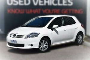2012 Toyota Corolla ZRE152R MY11 Ascent White 4 Speed Automatic Hatchback Berwick Casey Area Preview