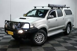 2013 Toyota Hilux KUN26R MY14 SR5 Double Cab Silver 5 Speed Automatic Utility Edgewater Joondalup Area Preview