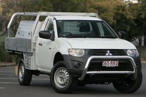 2010 Mitsubishi Triton MN MY11 GL 4x2 White 5 Speed Manual Cab Chassis Chermside Brisbane North East Preview