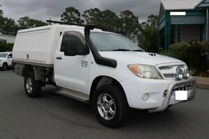 2006 Toyota Hilux KUN26R MY07 SR White 5 Speed Manual Cab Chassis Acacia Ridge Brisbane South West Preview