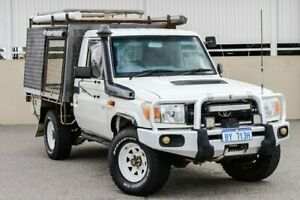 2010 Toyota Landcruiser VDJ76R 09 Upgrade Workmate (4x4) White 5 Speed Manual Wagon Cannington Canning Area Preview