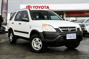 2002 Honda CR-V MY02 (4x4) White 5 Speed Manual Wagon Osborne Park Stirling Area Preview