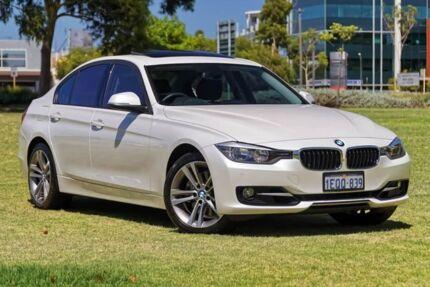2014 BMW 328i F30 MY1114 Luxury Line White 8 Speed Sports Automatic Sedan Burswood Victoria Park Area Preview