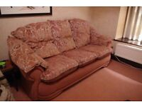 Super comfy sofa and two reclining armchairs