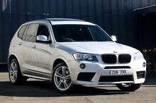 2013 BMW X3 F25 xDrive20d Silver Automatic Wagon Ringwood East Maroondah Area Preview