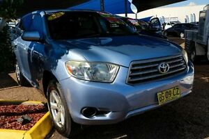 2008 Toyota Kluger GSU40R KX-R 2WD Blue 5 Speed Sports Automatic Wagon Colyton Penrith Area Preview