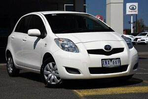2010 Toyota Yaris NCP90R MY10 YR White 5 Speed Manual Hatchback Mornington Mornington Peninsula Preview