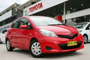 2013 Toyota Yaris NCP130R YR Red 4 Speed Automatic Hatchback Castle Hill The Hills District Preview