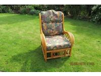 Comfortable bamboo chair for conservatory in very good condition