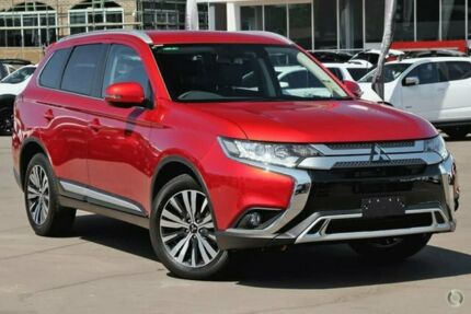 2019 Mitsubishi Outlander ZL MY19 LS 2WD Red 6 Speed Constant Variable Wagon Caroline Springs Melton Area Preview