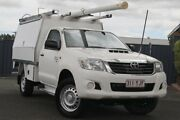 2014 Toyota Hilux KUN26R MY14 SR White 5 Speed Manual Cab Chassis Slacks Creek Logan Area Preview