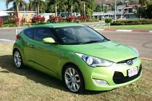2012 Hyundai Veloster FS Coupe D-CT Green 6 Speed Sports Automatic Dual Clutch Hatchback Townsville 4810 Townsville City Preview