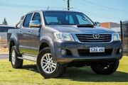 2013 Toyota Hilux KUN26R MY12 SR5 Double Cab Grey 5 Speed Manual Utility Wangara Wanneroo Area Preview