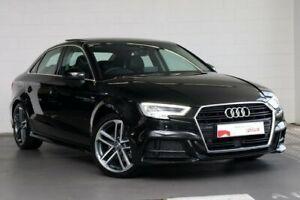2019 Audi A3 8V MY19 40 TFSI S Tronic S Line Plus Black 7 Speed Sports Automatic Dual Clutch Sedan