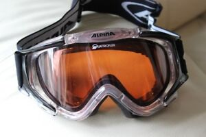 Goggles Alpina FOR SKIING / SNOWBOARDING adults size  In perfect