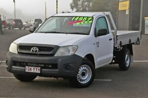 2010 Toyota Hilux TGN16R MY10 Workmate 4x2 White 5 Speed Manual Cab Chassis Gympie Gympie Area Preview
