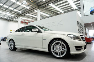 2011 Mercedes-Benz C350 W204 MY12 BE Calcite White 7 Speed Automatic G-Tronic Coupe Port Melbourne Port Phillip Preview