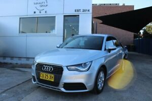 2012 Audi A1 8X MY13 Attraction Sportback S Tronic Silver 7 Speed Sports Automatic Dual Clutch Croydon Burwood Area Preview