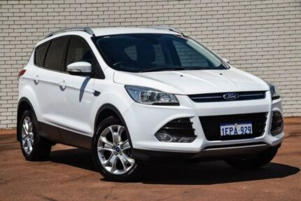 2014 Ford Kuga TF MY15 Trend AWD White 6 Speed Sports Automatic Wagon Bayswater Bayswater Area Preview