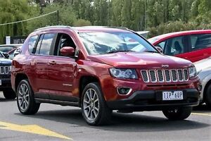 2014 Jeep Compass MK MY15 Limited Red 6 Speed Sports Automatic Wagon Ringwood East Maroondah Area Preview