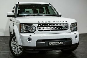 2012 Land Rover Discovery 4 Series 4 L319 MY13 TDV6 White 8 Speed Sports Automatic Wagon Rozelle Leichhardt Area Preview