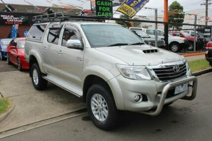 2014 Toyota Hilux KUN26R MY14 SR5 (4x4) Silver 5 Speed Automatic Dual Cab Pick-up West Footscray Maribyrnong Area Preview