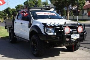 2013 Ford Ranger PX XL Double Cab White 6 Speed Manual Cab Chassis Altona North Hobsons Bay Area Preview