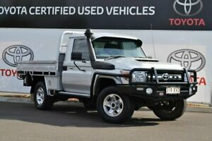 2017 Toyota Landcruiser VDJ79R GXL (4x4) Silver Pearl 5 Speed Manual Cab Chassis Warwick Southern Downs Preview