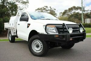 2012 Ford Ranger PX XL 4x2 Hi-Rider White 6 Speed Manual Cab Chassis Officer Cardinia Area Preview