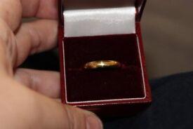 MEN'S 18 CARAT GOLD D SHAPE WEDDING RING