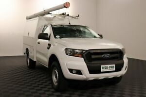 2016 Ford Ranger PX MkII XL Hi-Rider Cool White 6 Speed Sports Automatic Cab Chassis Acacia Ridge Brisbane South West Preview