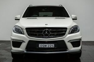 2014 Mercedes-Benz ML63 W166 MY805 AMG SPEEDSHIFT DCT White 7 Speed Sports Automatic Dual Clutch