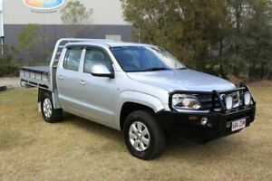 2011 Volkswagen Amarok 2H MY12 TDI400 4Mot Trendline Silver 6 Speed Manual Cab Chassis Ormeau Gold Coast North Preview