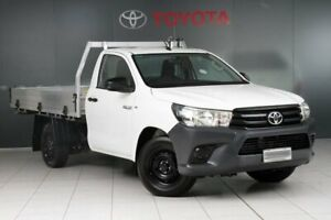 2016 Toyota Hilux TGN121R Workmate Glacier White 5 Speed Manual Cab Chassis Glebe Inner Sydney Preview