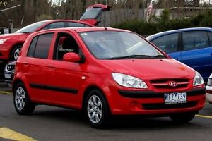 2008 Hyundai Getz TB MY07 S Red 4 Speed Automatic Hatchback Ringwood East Maroondah Area Preview