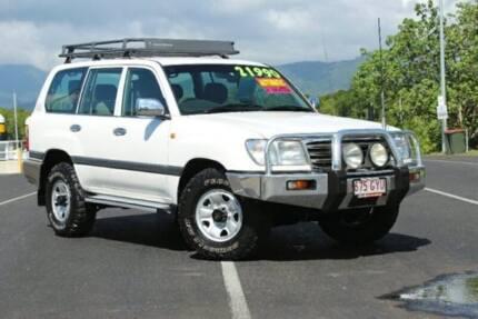 2003 Toyota Landcruiser UZJ100R GXL White 5 Speed Automatic Wagon