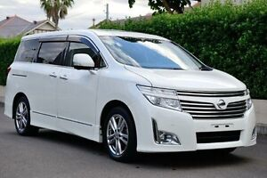 2010 Nissan Elgrand PE52 Highwaystar White Constant Variable Wagon Burwood Heights Burwood Area Preview