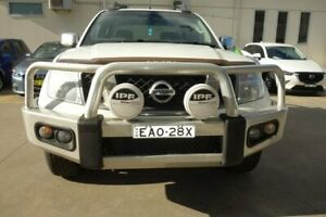 2011 Nissan Navara D40 MY11 ST-X 550 White 7 Speed Sports Automatic Utility East Maitland Maitland Area Preview