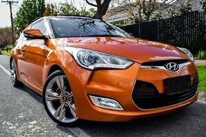 2011 Hyundai Veloster FS + Coupe D-CT Orange 6 Speed Sports Automatic Dual Clutch Hatchback Medindie Walkerville Area Preview