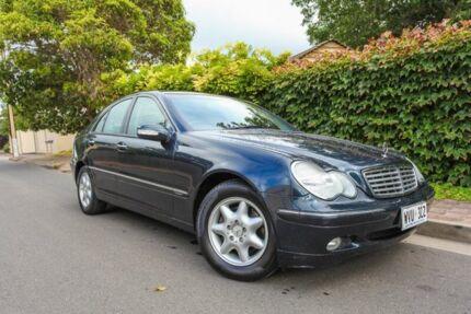 2002 Mercedes-Benz C180 Kompressor W203 MY2003 Elegance Blue 5 Speed Automatic Sedan Hove Holdfast Bay Preview