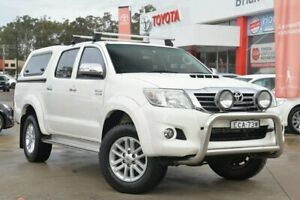 2014 Toyota Hilux KUN26R MY12 SR5 (4x4) White 5 Speed Manual Dual Cab Pick-up Wyoming Gosford Area Preview