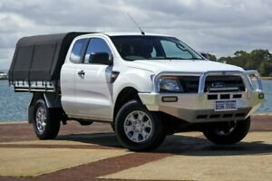 2013 Ford Ranger PX XL White Manual Cab Chassis